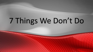 7 Things We Don't Do At Matrixforce