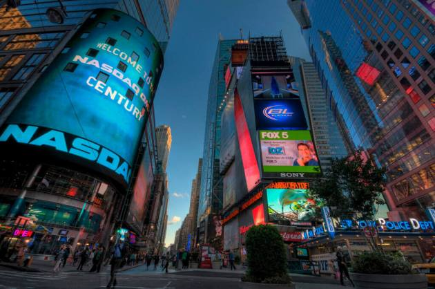 Nasdaq Jumbotron Times Square