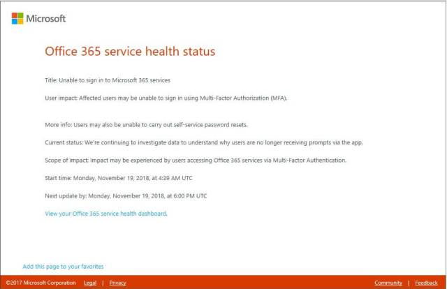 Office 365 Users Unable to Log On with Multi-Factor